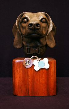 Beagle Statue by AfterlightRob