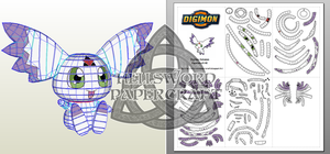 Digimon Culumon Papercraft V2 by HellswordPapercraft