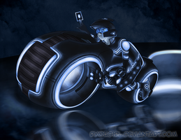 Card Games on Light Cycles by RyouGirl