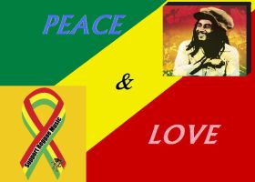 Peace and Love Rastafari by herbmanrasta