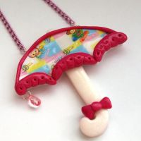 Pretty Parasol Necklace by AndyGlamasaurus