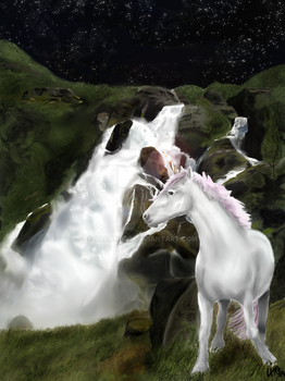 The unicorn's waterfall by aldana07