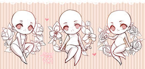 [CLOSED] YCH AUCTION {Flower Chibis} by anitori