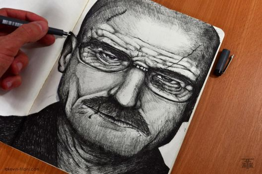 Breaking Bad / Heisenberg Speed drawing + Video by KevinFiloniArt
