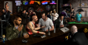 Bar Full of Criminals by Tony-Antwonio