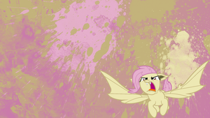 Flutterbat Splatter Wallpaper by brightrai