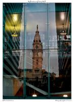 Reflections of City Hall. by yellowcaseartist