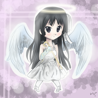Mio ::Don't Say Lazy:: Angel Chibi by artsy-akalei