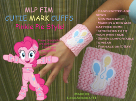 Cutie Mark Cuffs: Pinkie Pie Style by InkRose98
