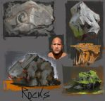 Rock studies by crazypalette