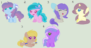 .: CLOSED :. Mane Six Shipping Adopts by Moonlit-Harmony