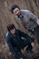 Walking Dead Cosplay Rick Grimes and Daryl Dixon by 0Hidan0