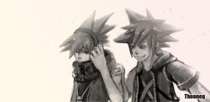 sora AND neku by THEONEG