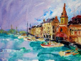 Honfleur, France by terryBrooks