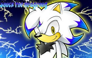 Commish: Shock the hedgehog by Sayamiyazaki