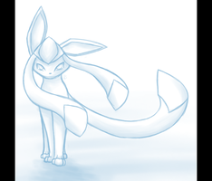 Glaceon_Sketch by BlackMew13