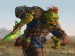 Orc with poisoned dagger by Gimaldinov