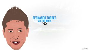 Fernando Torres Vector Wallpaper by bluezest1997
