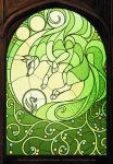 Plant Spirit Stained Glass Window [Gift] by FlyQueen