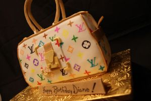 Louis Vuitton Handbag Cake by UnholyScroll