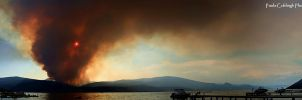 Terrace Mountain Fire Pano by La-Vita-a-Bella