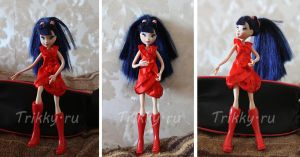 Musa doll in s4 red dress by trikky-ru