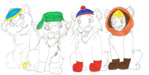 South Park Lions by Zee-Stitch