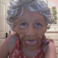 Old Lady Mask dont like you by Drewetta