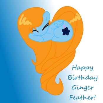 Happy Birthday Ginger Feather by Sera-eclipse