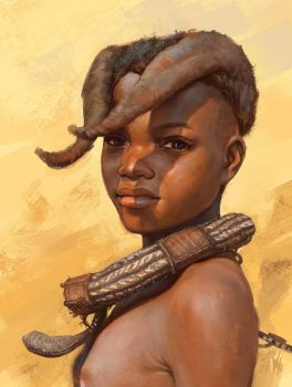 Himba tribe kid study by Tsabo6