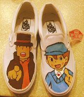 professor layton vans by Surf-cat