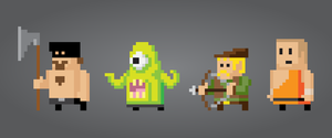 8 bit looking vector people by gelerli