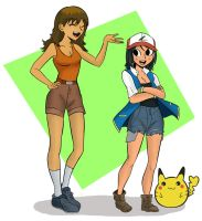 Ash and Brock, Pokemon GB by TheMightFenek