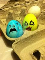 zombie Easter eggs by Angry-Popcorn
