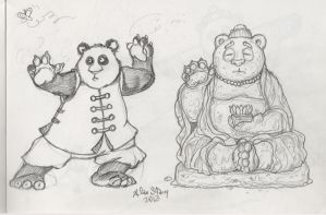 Panda - Hospital sketch 2 by Beishung