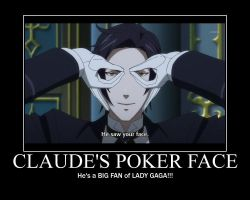 Claude's Poker face by AloisPhantomhive