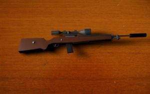 3D sniper rifle model by bst14