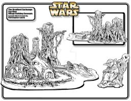 Star Wars Yoda's Hut Concept by toymaker-cl