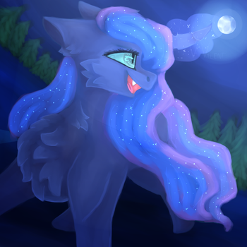 MLP - Princess Luna | The glory of the moon by VValent