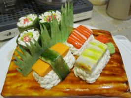 sushi cake 3 by recycledrapunzel