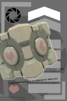 Companion Cube iPod Wallpaper by Zeezy
