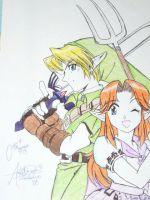 Link + Malon OoT by alicebowie
