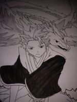 Toshiro and Hyorinmaru by Kyomora
