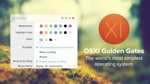 OS XI Golden Gates - Settings by LabLayers