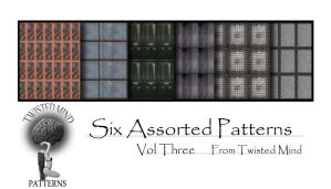 Six Assorted Patterns Vol three by Textures-and-More