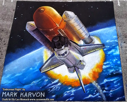 Endeavour Flight Chalk Art by charfade