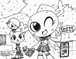 Penny, Teri and Carrie going Japanese!! by Kainsword-Kaijin