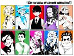 can you guess my favorite characters? by Silent-Feather