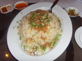 Golden Fried Rice with Shrimp and Salted Fish by Gexon
