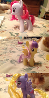 Plumsweet, Sunny Rays, Lily Blossom, and Bob by AClockworkKitten